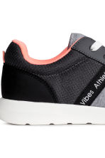 Mesh and jersey trainers - Grey marl - Kids | H&M 3