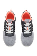Sneakers in mesh e jersey - Grey marl - BAMBINO | H&M IT 2