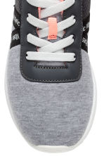 Mesh and jersey trainers - Grey marl - Kids | H&M 4
