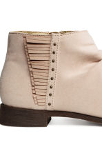 Gathered-shaft ankle boots - Light beige - Kids | H&M 4