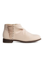 Gathered-shaft ankle boots - Light beige - Kids | H&M 1
