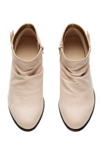Gathered-shaft ankle boots - Light beige - Kids | H&M CN 2