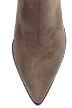 Ankle boots with pointed toes - Dark Khaki - Ladies | H&M 3