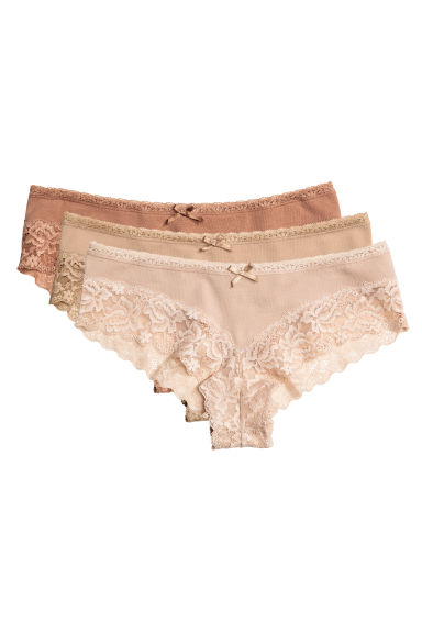 3-pack hipster briefs - Beige - Ladies | H&M 1