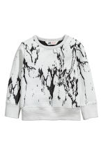 Textured sweatshirt - Light grey - Kids | H&M CN 2