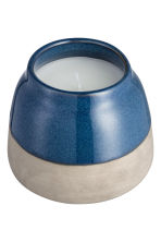 Candela in vasetto di ceramica - Blu scuro - HOME | H&M IT 3