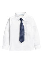 Shirt with a tie/bow tie - White - Kids | H&M CN 2