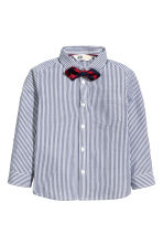 Shirt with a tie/bow tie - Dark blue/Striped - Kids | H&M 2