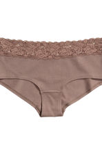 3-pack cotton shortie briefs - Mole - Ladies | H&M CN 4