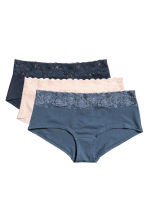 Shortie 3件入棉質內褲 - Pigeon blue - Ladies | H&M 2