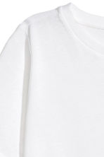 Cotton-blend T-shirt - White - Ladies | H&M 4