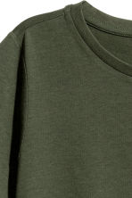 Cotton-blend T-shirt - Dark green - Ladies | H&M 3