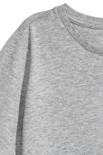 Cotton-blend T-shirt - Grey marl - Ladies | H&M CA 3