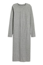 H&M+ Ribbed dress - Grey marl - Ladies | H&M CN 2