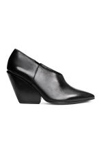 Leather shoe boots - Black - Ladies | H&M 2