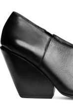 Leather shoe boots - Black - Ladies | H&M 5
