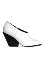 Leather shoe boots - White - Ladies | H&M CA 2