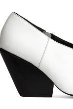 Leather shoe boots - White - Ladies | H&M CN 5