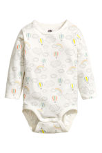 Long-sleeved bodysuit - White/Cloud -  | H&M CN 1