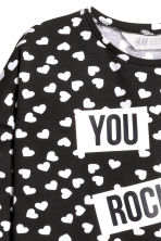 Long-sleeved top - Black/Heart - Kids | H&M 3