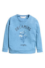 Long-sleeved top - Blue - Kids | H&M CN 2