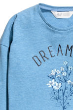 Long-sleeved top - Blue - Kids | H&M CN 3