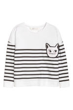 Long-sleeved top - White/Striped - Kids | H&M 2