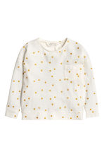 Long-sleeved top - White/Spotted - Kids | H&M 2