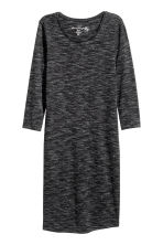 Jersey dress - Black marl - Ladies | H&M CN 2