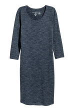 Jersey dress - Dark blue marl - Ladies | H&M CN 2