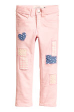 Twill trousers with patches - Light pink - Kids | H&M CN 2