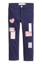 Twill trousers with patches - Dark blue - Kids | H&M CN 2