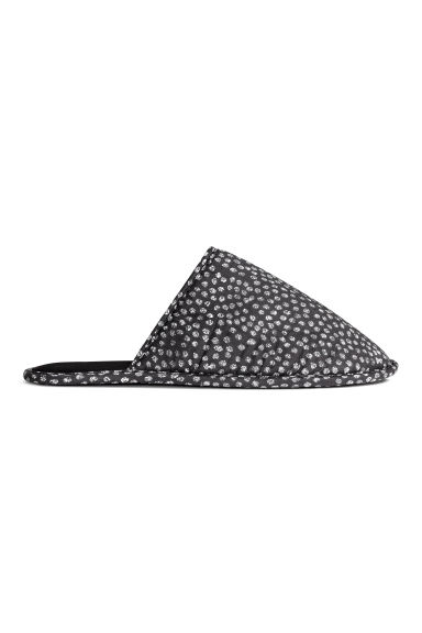 Soft slippers - Anthracite grey/Patterned - Home All | H&M CN