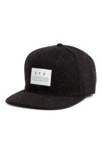 Wool-blend cap - Black/Neps - Men | H&M CN 1