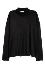 Fine-knit jumper - Black - Ladies | H&M CN 2