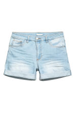 Denim shorts - Light denim blue - Ladies | H&M CN 1