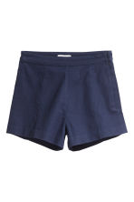 Twill shorts High waist - Dark blue - Ladies | H&M CN 2