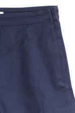 Twill shorts High waist - Dark blue - Ladies | H&M CN 3