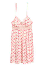 Nightslip with lace - Powder pink/Pattern - Ladies | H&M CN 2