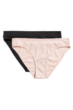 Bikini 2件入內褲 - Powder pink/Black - Ladies | H&M 2