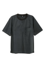 Cotton weave T-shirt - Black - Men | H&M CN 2