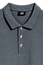 Polo in piqué - Blu-grigio -  | H&M IT 3