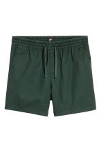 Shorts corti in cotone - Verde scuro - UOMO | H&M IT 2