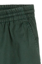 Short cotton shorts - Dark green - Men | H&M 3
