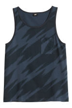 Vest top with a chest pocket - Dark blue/Patterned - Men | H&M CN 2