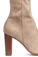 Thigh-high boots - Light beige - Ladies | H&M 4