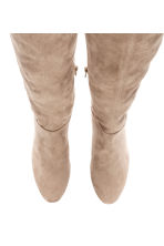 Thigh-high boots - Light beige - Ladies | H&M 2