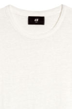 Linen T-shirt - White - Men | H&M 3