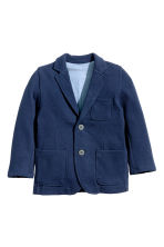 Piqué jacket - Dark blue - Kids | H&M CN 2