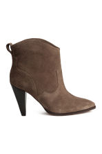 Suede ankle boots - Brown - Ladies | H&M CN 1